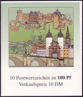 33 MH Heidelberg, Postfrisch - Booklets