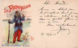 BISCUITS PERNOT - DIJON - Cartolina Francese - VIAGGIATA - Advertising