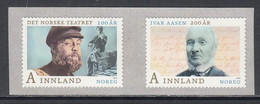2013 Norway Language Year Actor Drama  Complete Set Of 2 MNH @ BELOW FACE VALUE - Nuovi
