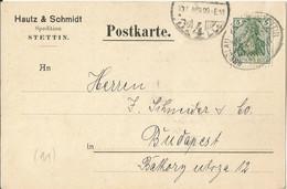 "20 020 Postkarte. Bahnpost ""BRESLAU-KREUZ-STETTIN"" 1907 - Covers & Documents"
