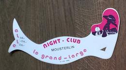 AUTOCOLLANT  STICKER - LE GRAND LARGE - NIGHT-CLUB - MOUSTERLIN - DISCOTHÈQUE - FOUESNANT - FINISTÈRE BRETAGNE - Pegatinas