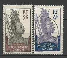 GABON N° 34 Et 35 OBL - Used Stamps
