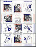 """FR 2020 / BLOC-FEUILLET """" BORIS VIAN 100 ANS """" De 12 Images Dont 6t à 1.16 € Avec TETE-BECHE +  6 Vignettes...NEUF Xx - Mint/Hinged"""