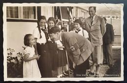 """Deutsches Reich 1938, Postkarte Foto """"Kleine Besucherin Obersalzberg"""" Sonderstempel - Brieven En Documenten"""