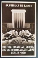 Deutsches Reich 1939, Postkarte Automobil Motorrad Ausstellung BERLIN Sonderstempel - Brieven En Documenten