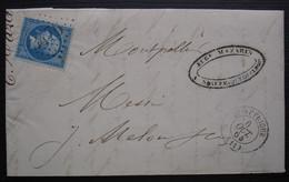 Saint Affrique Aveyron 1864 Eug Mazarin Lettre Pour Montpellier - 1849-1876: Période Classique