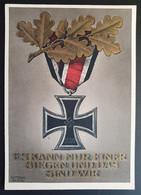 """Deutsches Reich 1942, Postkarte """"Es Kann Nur Einer Siegen"""" Sonderstempel WIEN - Brieven En Documenten"""