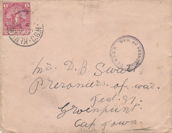 South Africa P.O.W. Cover Cape Of Good Hope 1900 - Cape Of Good Hope (1853-1904)