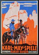 Deutsches Reich 1938, Postkarte KARL-MAY-SPIELE Sonderstempel RATHEN - Brieven En Documenten