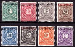 HAUTE-VOLTA - Taxe 1 / 8 - Série Complète 8 Valeurs - Neufs N* - Très Beaux - Postage Due