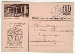 Suisse // Schweiz // Entiers Postaux // Entier Postal Privé, Cachet Bad Ragaz Du 23.04.1948 (Image Bad Ragaz) - Interi Postali