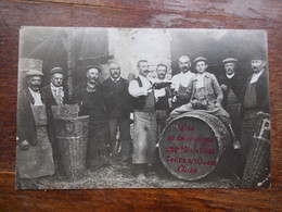 CARTE PHOTO CELLES SUR OURCE - Tonneau Vin Champagne - Other Municipalities