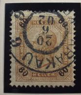 Österreich - Autriche - 1899 - Heller & Kr  - Soie -  Chiffr. Noir - Dent 13.5 - N° 76 - 60 H - Gestempeld Krakau - Gebruikt