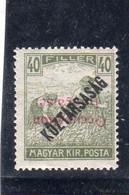 Hongrie : Année 1919 (timbres De Koztarsasag) N°* Surcharge Renversée - Unused Stamps