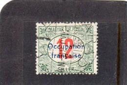 Hongrie : Année 1919 Timbre Taxe N°8 Oblitéré - Used Stamps