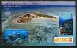 TAAF 2021  N° F983 ** ( 983/984 ) Neuf MNH Superbe Récifs Corail îles Eparses Poissons Coraux Fishes Ile Du Lys Glorieus - Nuovi