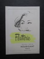 CARTE PARFUMéE (V2106) Nouveau Parfum HOUBIGANT PARIS (2 Vues) FLATTERIE - Publicités