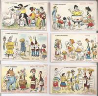 Lot De 6 Cartes Des Magasins MOURLAS  A Toulouse Theme La France Gastronomique - Verzamelingen