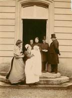 PHOTO ANCIENNE - JUIN 1894 PALAIS DE L'ELYSEE PARIS CHAMPS ELYSEES SUR LE PERRON LES JARDINS BEBE VISITE POLITIQUE - Old (before 1900)