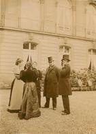 PHOTO ANCIENNE - JUIN 1894 PALAIS DE L'ELYSEE PARIS CHAMPS ELYSEES La Cour LES JARDINS VISITE POLITIQUE - Old (before 1900)