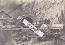 VALLORBE - LE MONT D'OR - Rare Photo Originale De 1912 Des Travaux Du Tunnel - Consolidation Des Rails Sortie Du Tunnel - Luoghi