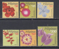 2019 Philippines Flowers Fleurs Definitives Complete Set Of 6 MNH - Filippine