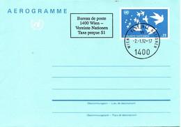 ONU Vienne. Aérogramme De 1987 Avec Oblitération De 1992. - Sonstige