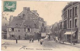 03. MONTLUÇON. CPA. QUARTIER SAINT PIERRE. ANIMATION. COMMERCES. ANNEE 1910 + TEXTE - Montlucon