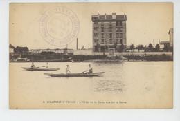 VILLENEUVE TRIAGE - L'Hôtel De La Gare, Vue De La Seine (cachet Militaire ) - Andere Gemeenten