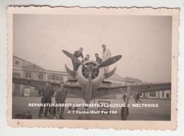 PHOTO 20/3/1943 REPARATURARBEIT LUFTWAFFE FLUGZEUG 2. WELTKRIEG -> ? Focke-Wulf Fw 190 - 1939-1945: 2de Wereldoorlog