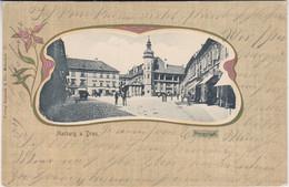 Slowenien - Marburg A.d. Drau Burgplatz Jugenstil-Passepartout-AK Gelaufen 1903 - Jugoslavia