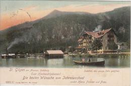 Österreich/Salzburg - St. Gilgen A. Abersee Seehotel Farb. AK/Neujahrszudr. 1903 - Non Classificati