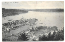 Postcard Norway Bergen Seet Fra Fløien Seen From Mountain Navy Warships 'Norge' & 'Eidsvold' ? Posted To UK 1907 - Norway