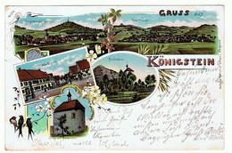Litho-Ansichtskarte Von Königstein Bei Sulzbach-Rosenberg, - Sulzbach-Rosenberg