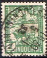 Indochine Poste Obl Yv:128 Mi:128 Laboureur & Tour De Confusius (TB Cachet à Date) - Used Stamps