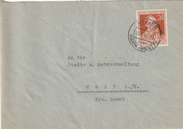 Brief Alliierte Besetzung Welver Vom 25.8.1947 - Amerikaanse, Britse-en Russische Zone