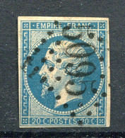 !!! N°14 OBLITERE GC 5095 SALONIQUE - 1849-1876: Periodo Clásico
