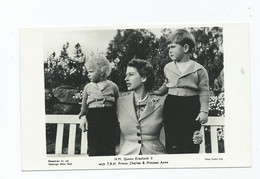 Royalty  Postcard  Queen Elizabeth 11  H.r.h. Princess Anne  Prince Charles Unused - Familles Royales