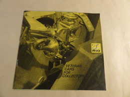 Catalogue RIO Voiture 1980 + Tarif - Literature & DVD