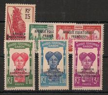 Gabon - 1928-31 - N°Yv. 116 à 120 - Série Complète - Neuf * / MH VF - Nuevos