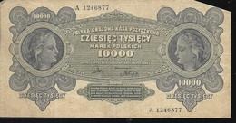 Pologne - Poland - Billet De 1000 Marek N° B 1246877 - Pologne