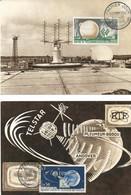 France Cartes Max 1er Jour YT 1360/1 Pleumeur Bodou 29/09/62 - 1960-1969