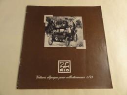 Catalogue RIO Voiture 1990 - Literature & DVD