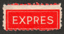 Express / Exprés / Expres / ROMANIA 1938 / Vignette Label - Not Used With Gum - Correo Postal