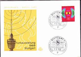 BRD FGR RFA - Nat. Funkausstellung (MiNr: 599) 1969 - FDC (Sonderkarte) - FDC: Buste