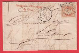 N°16 PARIS D ROMAIN D * D POUR LECTOURE GERS 1856 - 1849-1876: Klassieke Periode