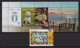 Guatemala (2020) - Set + Block -  / UPAEP - Dogs - Food - Gastronomy - Olympic Games - Tourism - Emissioni Congiunte