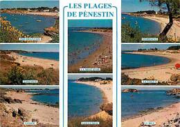 56 - Pénestin - Les Plages - Multivues - Flamme Postale - CPM - Voir Scans Recto-Verso - Pénestin