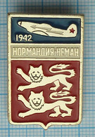 USSR / Badge / Soviet Union / RUSSIA Air Force Military Aviation French Squadron Normandy-Niemen. Emblem. - Forze Aeree