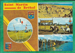 Bréhal (50) Saint-Martin-du-Bréhal Plage Vers Granville Le Poney-Club Moulières Camping 2scans Blason Lion Coquillages - Brehal